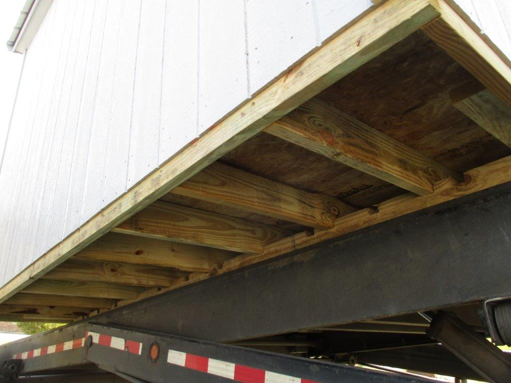 Under Shed with 2x6 Treated Floor Joist